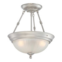Quoizel Lighting Melon 3 Light Semi-Flush Mount in Empire Silver ML1715ES alternative photo thumbnail