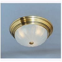 Melon 1 Light 11 inch Antique Brass Flush Mount Ceiling Light