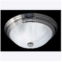 Quoizel ML182ESUL Melon 1 Light 11 inch Empire Silver Flush Mount Ceiling Light