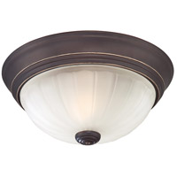 Melon 1 Light 11 inch Palladian Bronze Flush Mount Ceiling Light
