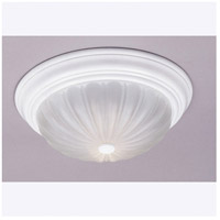 Melon 1 Light 11 inch Fresco Flush Mount Ceiling Light