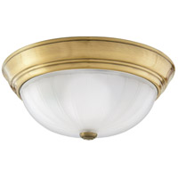 Melon 2 Light 13 inch Antique Brass Flush Mount Ceiling Light