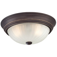 Melon 2 Light 13 inch Palladian Bronze Flush Mount Ceiling Light
