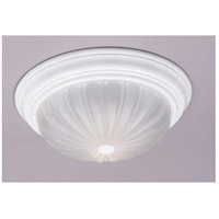 Quoizel Lighting Melon 1 Light Flush Mount in Fresco ML183W