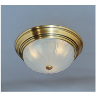 Melon 3 Light 16 inch Antique Brass Flush Mount Ceiling Light