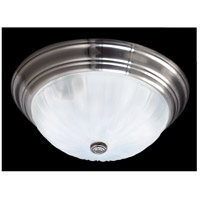 Quoizel ML184ES Melon 3 Light 16 inch Empire Silver Flush Mount Ceiling Light