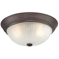 Melon 3 Light 16 inch Palladian Bronze Flush Mount Ceiling Light