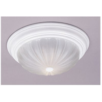 Quoizel Lighting Melon 3 Light Flush Mount in Fresco ML184W