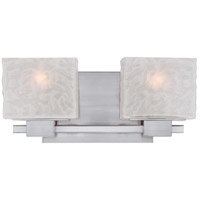 Melody 2 Light 15 inch Brushed Nickel Bath Light Wall Light