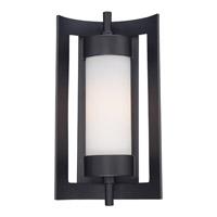 Quoizel Milan 1 Light Outdoor Wall Lantern in Mystic Black MLN8309KFL