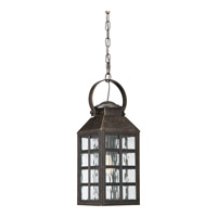 Miles 1 Light 8 inch Imperial Bronze Hanging Lantern Ceiling Light in CFL Spring Self-Ballasted GU 24