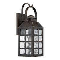Miles 1 Light 8 inch Imperial Bronze Wall Lantern Wall Light in CFL Spring Self-Ballasted GU 24