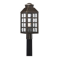 Miles 1 Light 19 inch Imperial Bronze Post Lantern in CFL Spring Self-Ballasted GU 24