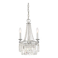 Miramar 3 Light 12 inch Polished Chrome Mini Chandelier Ceiling Light in B10 Candelabra Base