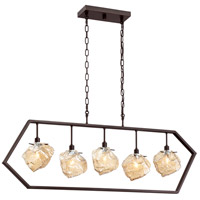 Quoizel MNL542PN Mineral 5 Light 42 inch Palladian Bronze Island Chandelier Ceiling Light