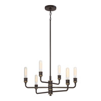 Quoizel MNO5006WT Menlo 6 Light 28 inch Western Bronze Chandelier Ceiling Light in A19 Medium Base