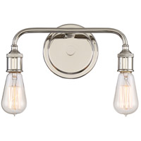Quoizel MNO8602IS Menlo 2 Light 13 inch Imperial Silver Bath Light Wall Light in A19 Medium Base