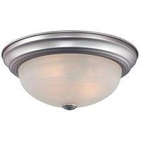 Quoizel Lighting Manor 2 Light Flush Mount in Brushed Nickel MNR1613BN