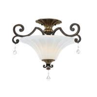 Quoizel Lighting Marquette 2 Light Semi-Flush Mount in Heirloom MQ1720HL