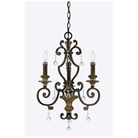 Marquette 3 Light 17 inch Heirloom Mini Chandelier Ceiling Light