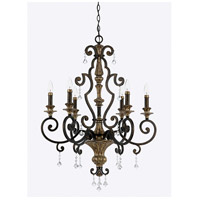 Quoizel MQ5006HL Marquette 6 Light 28 inch Heirloom Chandelier Ceiling Light