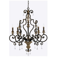 Quoizel Marquette 9 Light Foyer Chandelier in Heirloom MQ5009HL