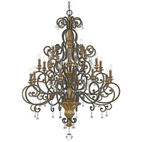 Marquette 20 Light 50 inch Heirloom Foyer Chandelier Ceiling Light