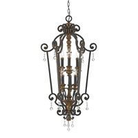 Quoizel Marquette 6 Light Foyer Chandelier in Heirloom MQ5206HL