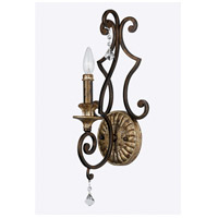 Quoizel Lighting Marquette 1 Light Wall Sconce in Heirloom MQ8701HL