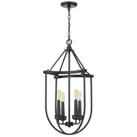 Quoizel MRG5204EK Mooring 4 Light 17 inch Earth Black Foyer Chandelier Ceiling Light