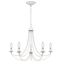 Quoizel MRN5005AWH Mirren 5 Light 21 inch Antique White Chandelier Ceiling Light