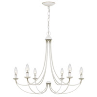 Quoizel MRN5006AWH Mirren 6 Light 28 inch Antique White Chandelier Ceiling Light  photo thumbnail