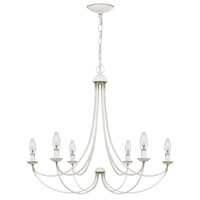 Quoizel MRN5006AWH Mirren 6 Light 28 inch Antique White Chandelier Ceiling Light  alternative photo thumbnail