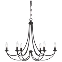 Quoizel Lighting Mirren 6 Light Chandelier in Imperial Bronze MRN5006IB