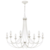Quoizel MRN5008AWH Mirren 8 Light 32 inch Antique White Chandelier Ceiling Light