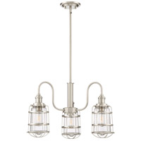 Quoizel MTE5103BN Maritime 3 Light 25 inch Brushed Nickel Dinette Chandelier Ceiling Light