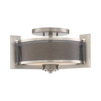 Quoizel Metropolis 3 Light Semi-Flush Mount in Antique Nickel MTP1718AN