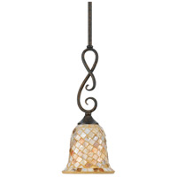 Monterey Mosaic 1 Light 6 inch Malaga Mini Pendant Ceiling Light, Naturals