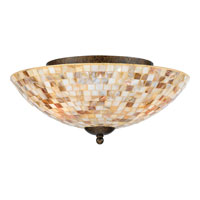 Quoizel MY1613ML Monterey Mosaic 3 Light 16 inch Malaga Flush Mount Ceiling Light  alternative photo thumbnail
