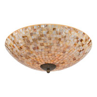 Quoizel Lighting Monterey Mosaic 4 Light Flush Mount in Malaga MY1618ML