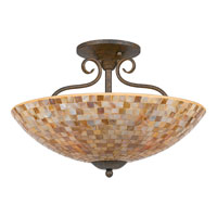 Quoizel Lighting Monterey Mosaic 4 Light Semi-Flush Mount in Malaga MY1718ML