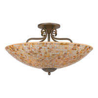 Quoizel Lighting Monterey Mosaic 5 Light Semi-Flush Mount in Malaga MY1723ML