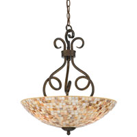 Monterey Mosaic 3 Light 18 inch Malaga Pendant Ceiling Light