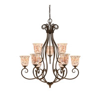 Quoizel Lighting Monterey Mosaic 9 Light Chandelier in Malaga MY5009ML
