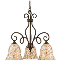 Monterey Mosaic 3 Light 24 inch Malaga Dinette Chandelier Ceiling Light, Naturals