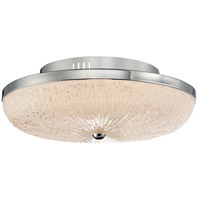 Moon Rays LED 16 inch Polished Chrome Flush Mount Ceiling Light