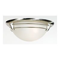 Quoizel Lighting New England 3 Light Flush Mount in Brushed Nickel NA1616BN