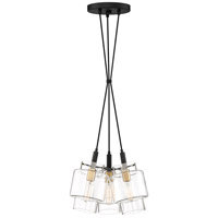 Naomi 3 Light 14 inch Earth Black Pendant Ceiling Light