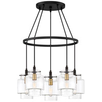 Quoizel NAO5005EK Naomi 5 Light 25 inch Earth Black Chandelier Ceiling Light