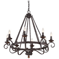 Quoizel NBE5008RK Noble 8 Light 32 inch Rustic Black Chandelier Ceiling Light alternative photo thumbnail